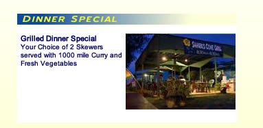 Sharks Cove Grill Dinner Specials